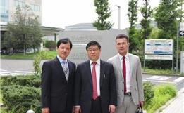 公司蔡总、海外部赵总访问癌研有