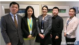 盛诺一家副总经理赵建勇先生访问纪念斯隆凯特林癌症中心国际部