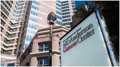 美国佳癌症医院排行榜中排名前十的安德森癌症中心.png
