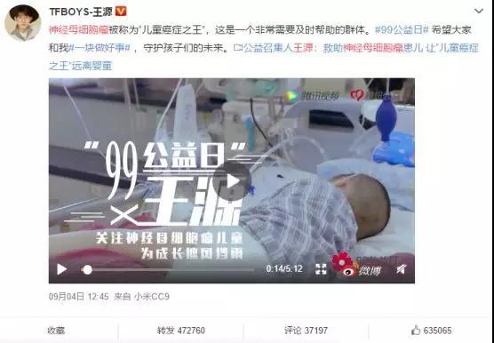 """99公益日,和TFBOYS-王源一起关注""""神经母细胞瘤"""".jpg"""