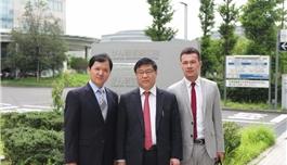 公司蔡总、海外部赵总访问癌研有明医院