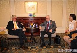 美国联盟医疗体系国际部总裁Dr.-Mudge-和副总裁Ed参加盛诺一家推广活动