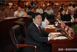 盛诺一家董事长蔡强先生在朝阳医院活动现场 (2)